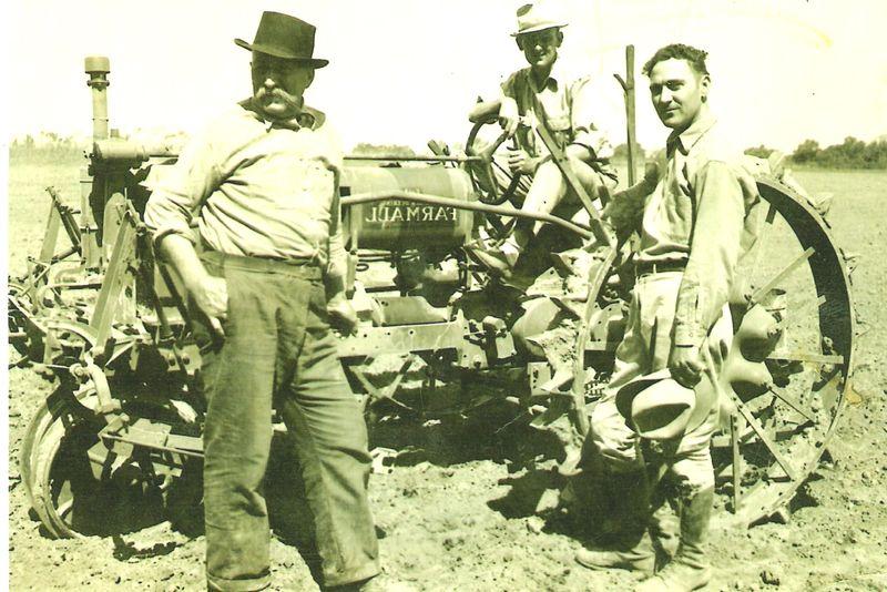 Walter,Clyde, Adam&Tractor