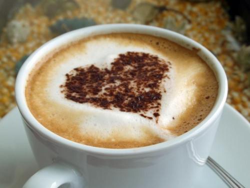 Ian L Coffee with Heart