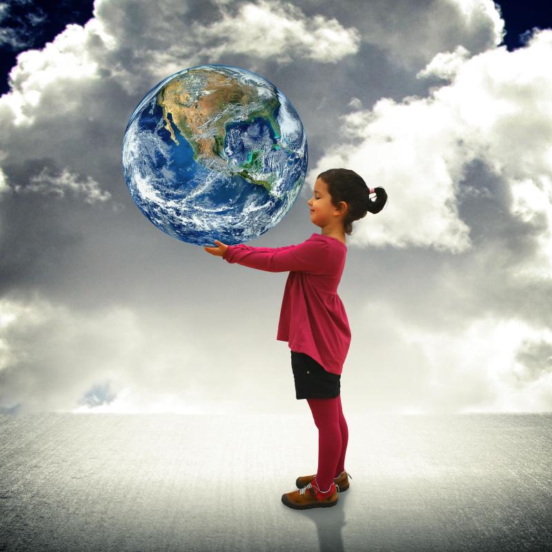 Jack Moreh Child HOlding World