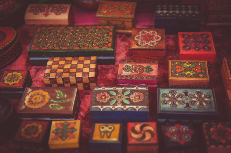 Decorative boxes credit pexels